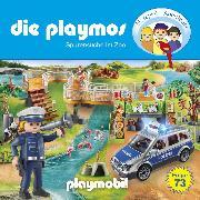 Cover-Bild zu Die Playmos, Folge 73: Spurensuche im Zoo (Das Original Playmobil Hörspiel) (Audio Download) von Fickel, Florian