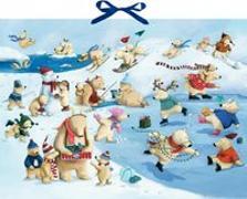 Cover-Bild zu Wandkalender - Fröhliche Eisbären-Weihnacht von Reider, Katja