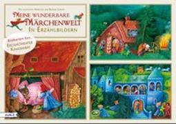 Cover-Bild zu Meine wunderbare Märchenwelt in Erzählbildern. Bildkarten fürs Erzähltheater Kamishibai von Grimm, Jacob