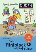 Cover-Bild zu Raab, Dorothee: Mein Miniblock mit Rabe Linus - Konzentrationsspiele