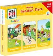 Cover-Bild zu WAS IST WAS Junior 3-CD Hörspielbox. Meine liebsten Tiere von Wilhelmi, Friederike