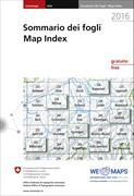Cover-Bild zu Swisstopo. Blattübersicht / Tableaux des feuilles / Sommario dei fogli / Map Index 2020