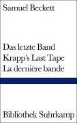 Cover-Bild zu Beckett, Samuel: Das letzte Band. Krapp's Last Tape. La dernière bande