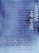 Cover-Bild zu Welt der Wörter 3 / Sprachbuch von Flückiger, Walter