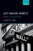Cover-Bild zu Herzog, Lisa (Hrsg.): Just Financial Markets?: Finance in a Just Society