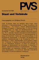Cover-Bild zu Streeck, Wolfgang (Hrsg.): Staat und Verbände