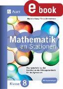 Cover-Bild zu Mathe an Stationen 8 Gymnasium (eBook) von Mang, Nathalie