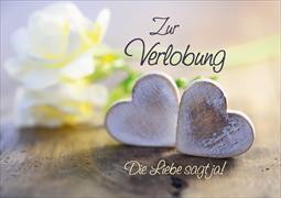 Cover-Bild zu Faltkarte. Zur Verlobung / Die Liebe sagt ja!