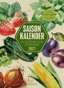 Cover-Bild zu Saisonkalender - Obst & Gemüse - Graspapier-Kalender 2021 von Ackermann Kunstverlag (Hrsg.)