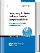 Cover-Bild zu Bewertungskriterien und -matrizen im Vergabeverfahren von Delcuve, Frederic