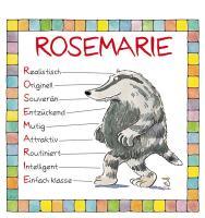 Cover-Bild zu Namenskalender Rosmarie von Mayr, Johann (Illustr.)