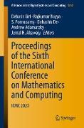 Cover-Bild zu Proceedings of the Sixth International Conference on Mathematics and Computing von Giri, Debasis (Hrsg.)