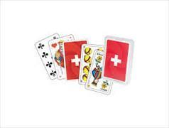 Cover-Bild zu Schweizer Kreuz Jasskarten Plastikbox