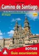 Cover-Bild zu Camino de Santiago (Rother Guía excursionista) von Rabe, Cordula