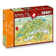 Cover-Bild zu Schweiz - Illustrierte Karte der Schweiz