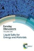 Cover-Bild zu Liquid Salts for Energy and Materials: Faraday Discussion 190 von Royal Society of Chemistry (Gespielt)