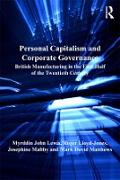 Cover-Bild zu Personal Capitalism and Corporate Governance (eBook) von Lewis, Myrddin John
