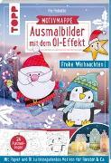 Cover-Bild zu Ausmalbilder mit dem Öl-Effekt - Frohe Weihnachten (Motivmappe mit 24 Ausmalbogen) von Pedevilla, Pia