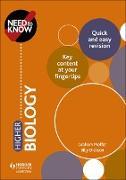 Cover-Bild zu Need to Know: Higher Biology (eBook) von Moffat, Graham