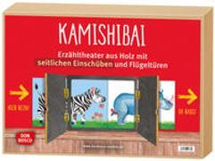 Cover-Bild zu Kamishibai mit seitlichem Einschub, durchsichtiger Rückwand und Flügeltüren.Erzähltheater für BildkarteninDIN A3