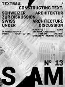 Cover-Bild zu S AM 13 - Textbau/Consulting von Adam, Hubertus (Hrsg.)