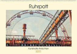 Cover-Bild zu Ruhrpott - Kunstvolle Ansichten (Wandkalender 2021 DIN A2 quer) von Adams, Heribert