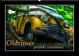 Cover-Bild zu Oldtimer perfekt insziniert (Wandkalender 2022 DIN A2 quer) von Adams, Heribert