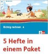 Cover-Bild zu Mein Indianerheft. Richtig rechnen. Arbeitsheft Klasse 4 (5-er Paket)