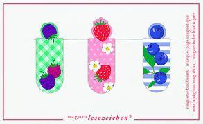 Cover-Bild zu Magnetlesezeichen Bunte Beeren VE 6