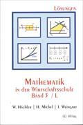 Cover-Bild zu Mathematik in der Wirtschaftsschule 3/L. Lösungsversion von Hächler, Werner