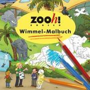 Cover-Bild zu Zoo Zürich Wimmel-Malbuch von Görtler, Carolin (Illustr.)