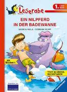 Cover-Bild zu EIN NILPFERD IN DER BADEWANNE - Leserabe 1. Klasse - Erstlesebuch für Kinder ab 6 Jahren von Hula, Saskia