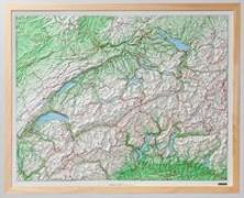 Cover-Bild zu Kunststoffrelief der Schweiz. 1:500'000 von Hallwag Kümmerly+Frey AG (Hrsg.)