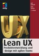 Cover-Bild zu Gothelf, Jeff: Lean UX (eBook)