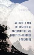 Cover-Bild zu Rich, Elizabeth: Authority and the Historical Document in Late Twentieth-Century Literature (eBook)