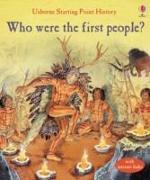 Cover-Bild zu Who Were the First People? von Cox, Phil Roxbee