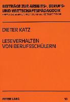 Cover-Bild zu Katz, Dieter: Leseverhalten von Berufsschülern