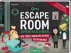 Cover-Bild zu Escape Room. Die drei unheimlichen Geschenke. Der Adventskalender für Kinder von Eva Eich von Eich, Eva