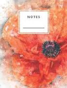 Cover-Bild zu Notes: Red Flower Lined and Numbered 120 Pages with Grey Lines Letter Size 8.5 X 11 - A4 Size (Journal, Notes, Notebook, Diar von Notes, Perfect
