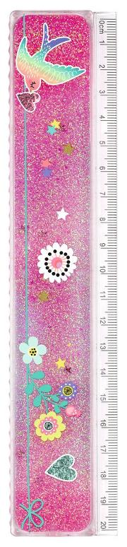 Cover-Bild zu Flowers & Friends Lineal Glitterzauber VE 12