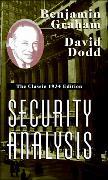 Cover-Bild zu Security Analysis: The Classic 1934 Edition von Graham, Benjamin