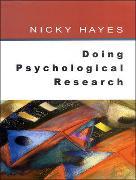 Cover-Bild zu Hayes, Nicky: Doing Psychological Research