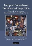 Cover-Bild zu Russo, Francesco: European Commission Decisions on Competition