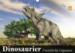 Cover-Bild zu Stanzer, Elisabeth: Dinosaurier. Urzeitliche Giganten (Wandkalender 2021 DIN A3 quer)