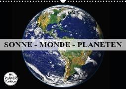 Cover-Bild zu Stanzer, Elisabeth: Sonne, Monde und Planeten (Wandkalender 2021 DIN A3 quer)