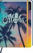 Cover-Bild zu myNOTES Notizbuch A5: Aloha Sommer - notebook medium, dotted - für Träume, Pläne und Ideen / ideal als Bullet Journal oder Tagebuch