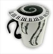 Cover-Bild zu Mug and Lid - Vertical Music Staves