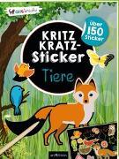 Cover-Bild zu Kritzkratz-Sticker Tiere von Schindler, Eva (Gestaltet)