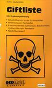 Cover-Bild zu 165. Ergänzungslieferung - Giftliste