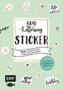 Cover-Bild zu Handlettering-Sticker - 500 Sprüche und Schmuckelemente von Janssen, Martina Johanna